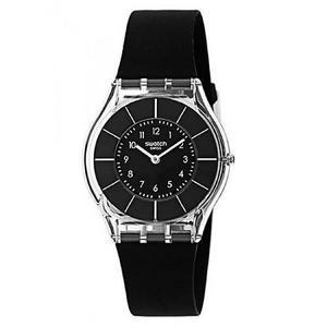 Reloj Swatch Sfk361 Silicone Negro Mujer