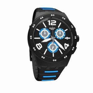 Reloj Swatch Susb410 Goma Negro Hombre