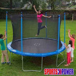 Trampolin Para Niños Sportspower De 12 Pies Hasta 100 Kilos