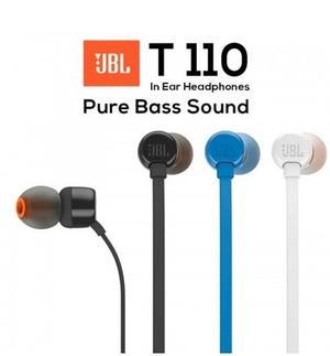 Auriculares Manos Libres Jbl T110 Con Microfono 1 Año Gtia