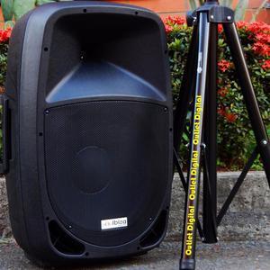 Cabina potenciada SPAIN 15 pulgadas con tripode y microfono