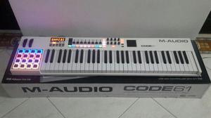 TECLADO CONTROLADOR MIDI MAUDIO CODE 61 GANGASO COMO NUEVO