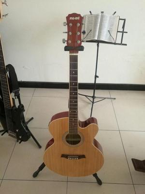 guitarra electroacustica mc art,microfono activo,caja