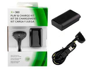 Kit Carga Y Juega Para Xbox  Ni-mh Recargable