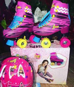 Patines Soy Luna Original Con Kit De Protección