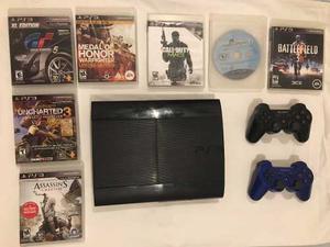 Playstation  Gb Con 7 Juegos Y Base De Carga Controles