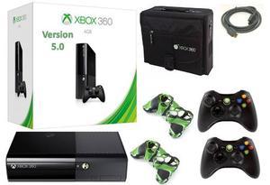 Xbox 360 Super Slim E 4gb Version 5.0 + 2 Controles* Stargus