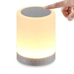 Parlante bluetooth lampara entrada usb micro sd radio fm