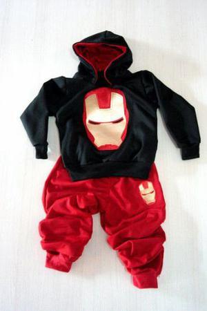 Conjunto Para Niño, Sudadera, Super Heroe Jogger