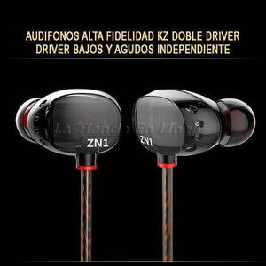 Audifonos Prof Kz Manos Libres Hifi Doble Driver  Hz