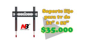 Base móvil o fija para televisor de 32 a 55 pulgadas desde