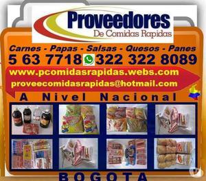 PROVEEDORES COMIDAS RAPIDAS. Panes, Salsas, Carnes, Papas, Q