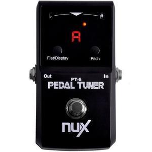 Pedal Afinador Nux Pt6 Para Guitarra Y Bajo True Bypass