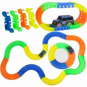 Pista Carros Glow Magic Tracks 100pc 150cm Envio Ya