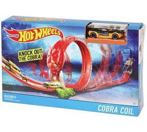 Pista De Carros Hot Wheels Trampa De Cobra Coches Cobra Coil