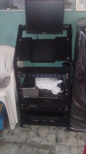 Rack Metálico Para Amplificación De Sonido