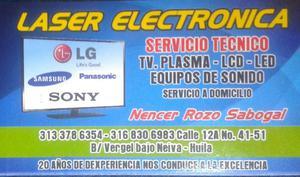 Reparación de televisores PLASMA LCD LED