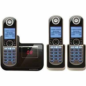 Teléfono Inalámbrico Motorola Dect 6.0 Con 3 Auriculares,