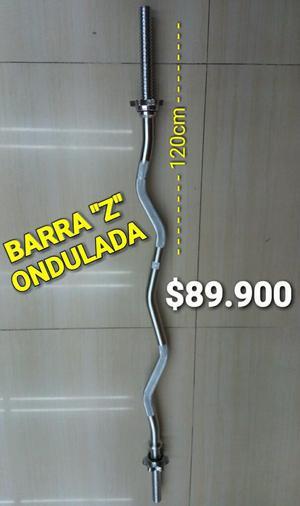 Barra Pesas Z Ondulada de 120 Cm