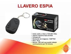 Camara Espia 720p Hd Llavero De Carro Video- Foto- Audio