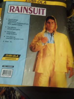 Impermeable chaqueta con capucha y pantalón Talla XL