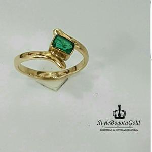 Anillo Oro 18k Esmeralda