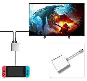 Fastsnail Hdmi Tipo C Adaptador Para Nintendo Switch, Conve