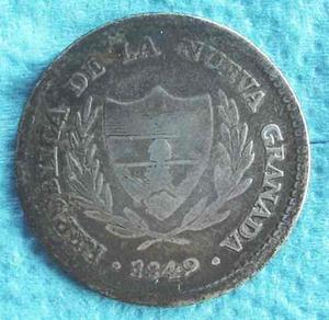 Moneda Colombia 2 Reales  De Plata, R A R A