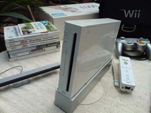 Nintendo Wii + 6 Juegos + Accesorios