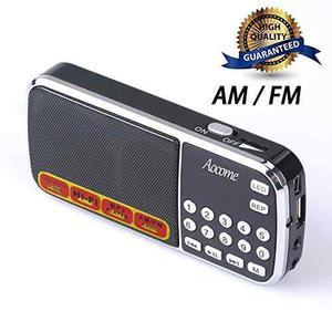 Aocome Portable Mini Am Fm Radio Reproductor De Música