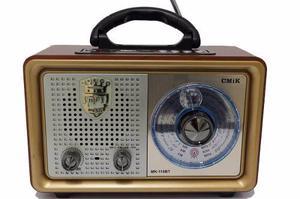 Parlante Radio Vintage Retro Bluetouth Usb Aux Fm Am, Pila