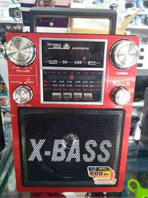Parlante Usb Bluetooth Radio Fm Y Am