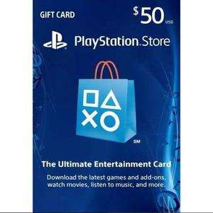 Play Station Network Psn Card $50 Store Usa Ps4 Ps3 Ps Vita