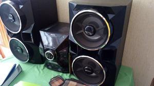 Equipo De Sonido Sony Dos Bafles Bajo Bazuca Una Planta