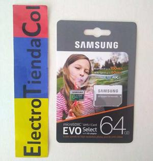 Memoria Micro Sd 64gb Samsung Clase 10 U3 Original Sellada