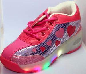 Tenis Patin Con Rueda Luz Led Retráctil Zapatos 3 Motivos