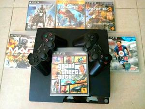 Vendo Ps3 de 500 Gb 6 Juegos 2 Controles