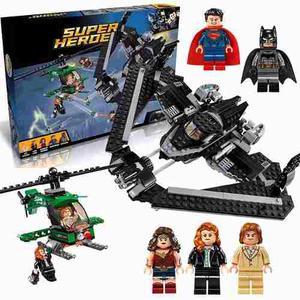 Batman Vs Superman Nave Minifiguras Com/lego Liga Ajd