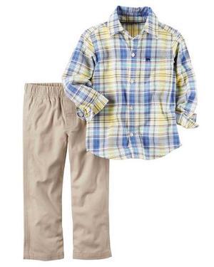 Conjunto Camisa / Pantalon Carter's Niño Talla 5t (carters)