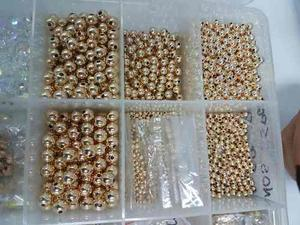 Esferas En Oro Laminado De 18k