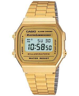 Reloj Casio Retro Dorado Old School Unisex Funcional