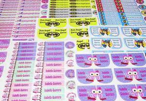 Stickers Personalizados Para Marcacion De Utiles Escolares