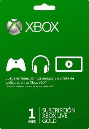 Xbox Live 1 Mes Codigo Digital Xbox Live Gold 1 Mes