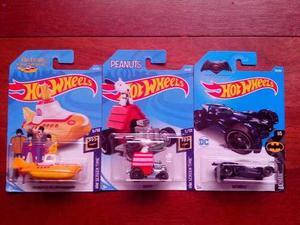 Combo De 3 Modelos Hot Wheels Sellados Batman Snoopy Yellow