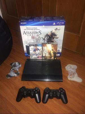Play Station 3 con 7 Juegos 2 Controles