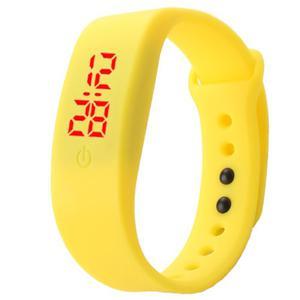 Reloj Led Silicona Amarillo
