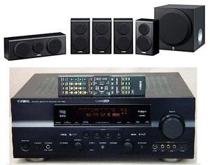 Sistema de audio Yamaha 7.1 RXV663 Parlantes Yamaha NSP150