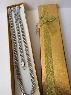 Cadena con pulsera tejido chino en acero