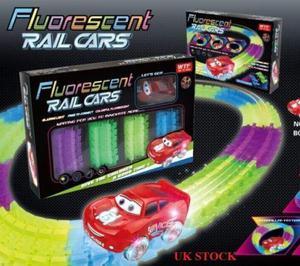 Pista Carros Rail Cars Fluorescent
