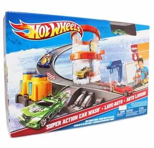 Pista De Carros Hot Wheels Lavado De Auto Carros Niños